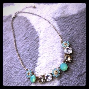 Sparkly flower stone necklace